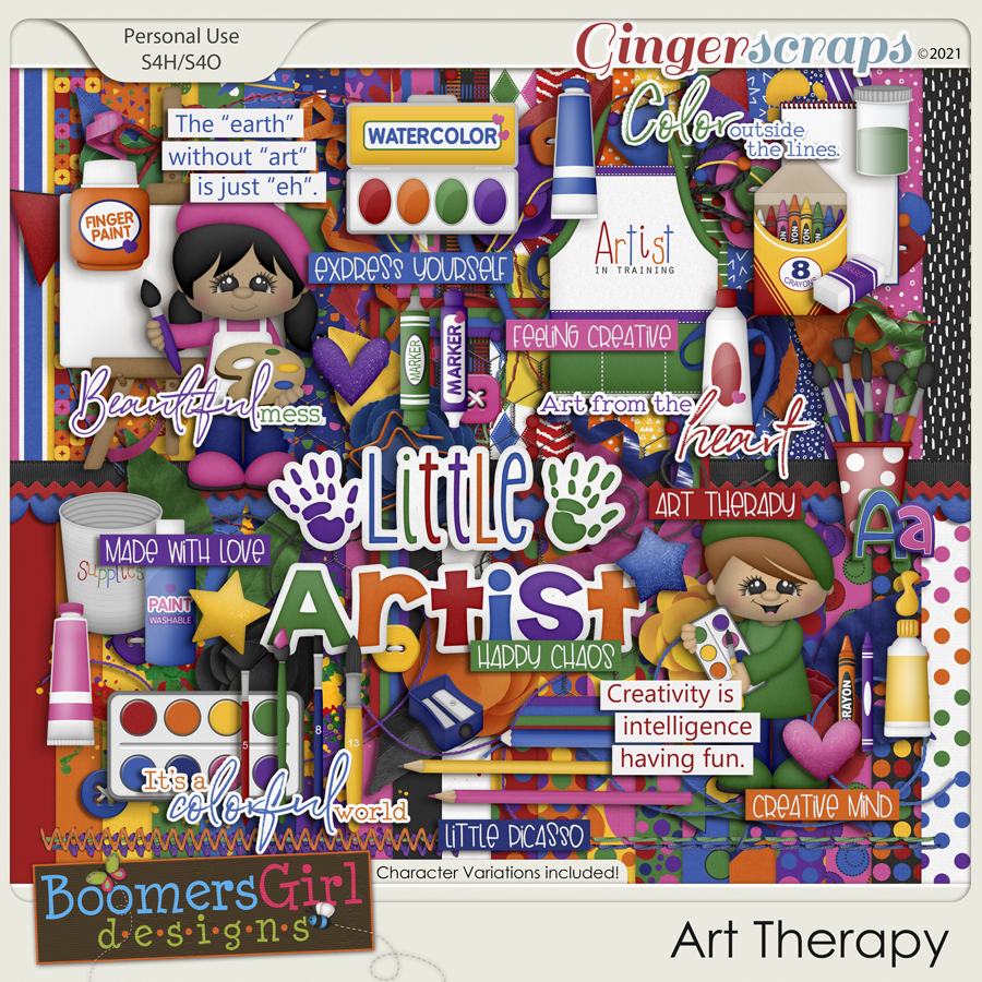 Art Therapy by BoomersGirl Designs
