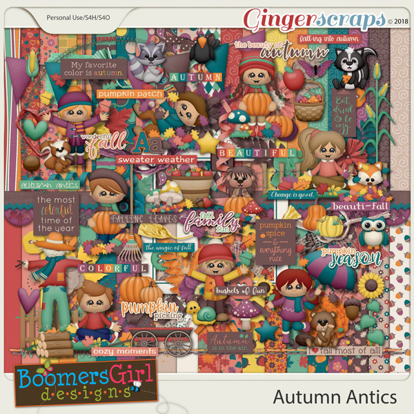 Autumn Antics by BoomersGirl Designs