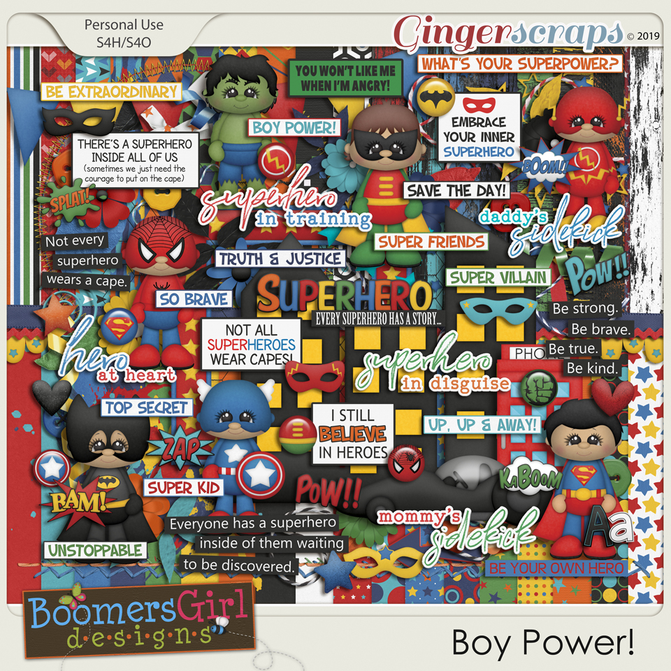Boy Power! by BoomersGirl Designs