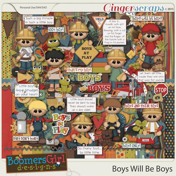 Boys Will Be Boys by BoomersGirl Designs