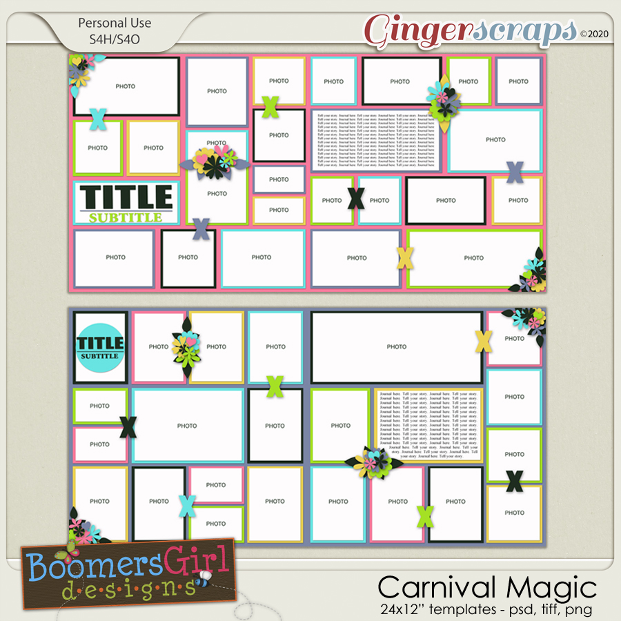 Carnival Magic Template Pack by BoomersGirl Designs