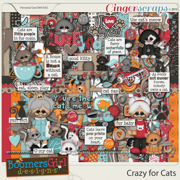 Crazy for Cats by BoomersGirl Designs