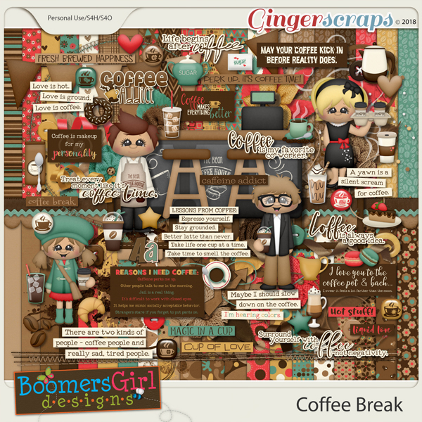 Coffee Break by BoomersGirl Designs