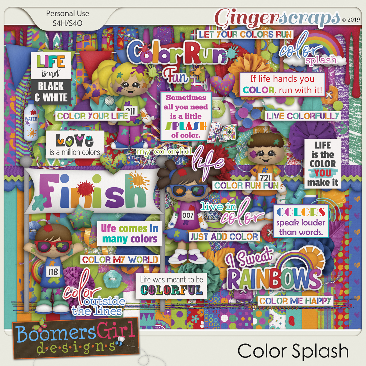 Color Splash by BoomersGirl Designs