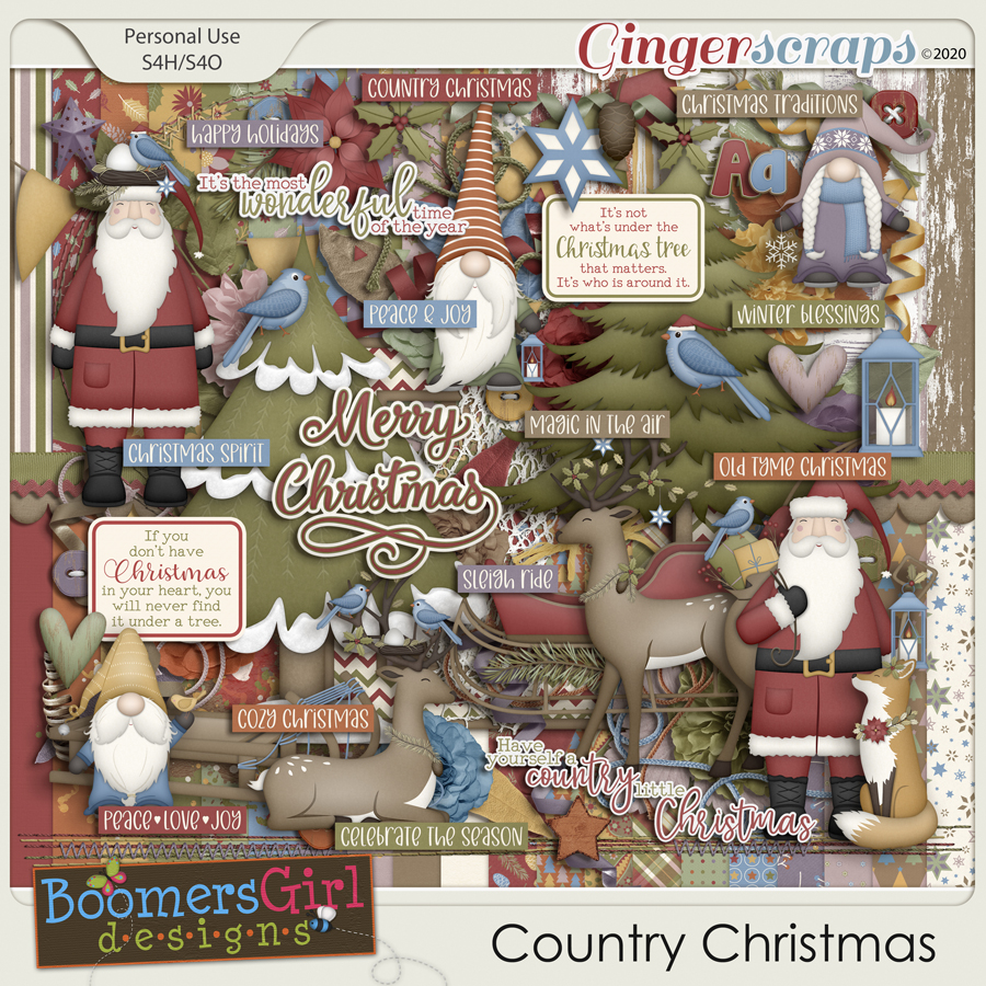 Country Christmas by BoomersGirl Designs