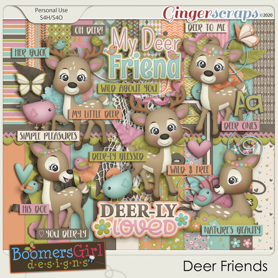 Deer Friends by BoomersGirl Designs