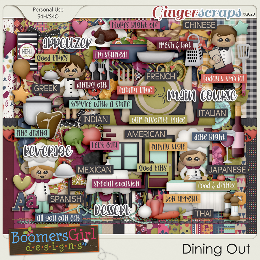 Dining Out by BoomersGirl Designs
