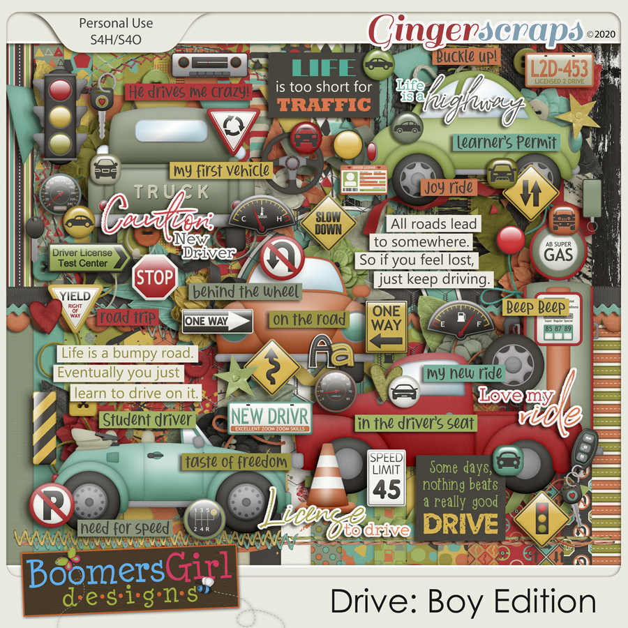 Drive: Boy Edition by BoomersGirl Designs