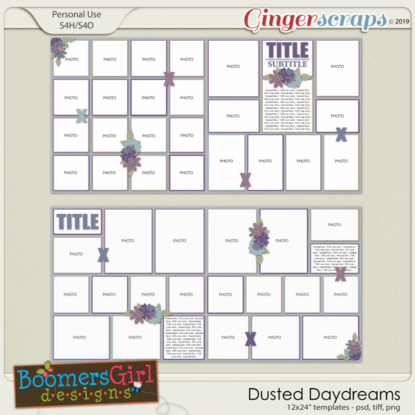 Dusted Daydreams Template Pack by BoomersGirl Designs