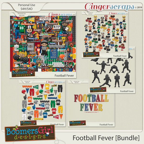 Football Fever Bundle by BoomersGirl Designs