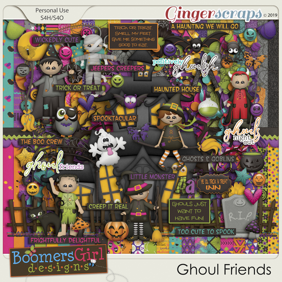 Ghoul Friends by BoomersGirl Designs