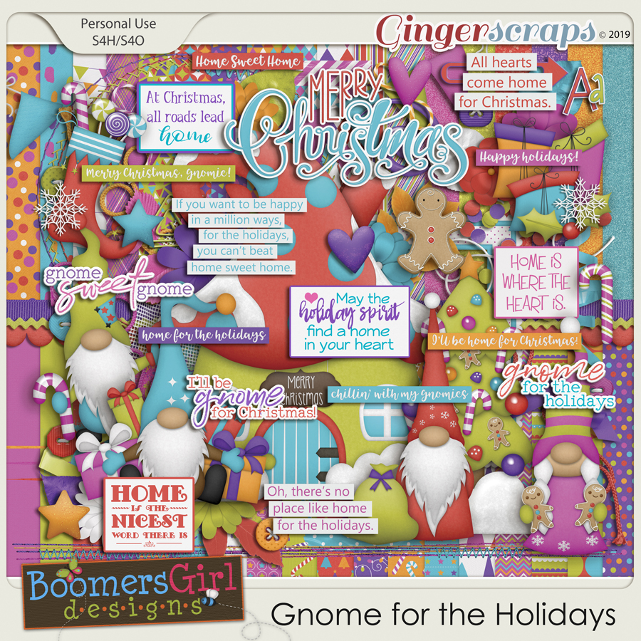 Gnome for the Holidays by BoomersGirl Designs