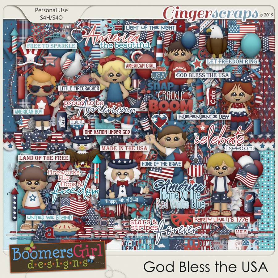 God Bless the USA by BoomersGirl Designs