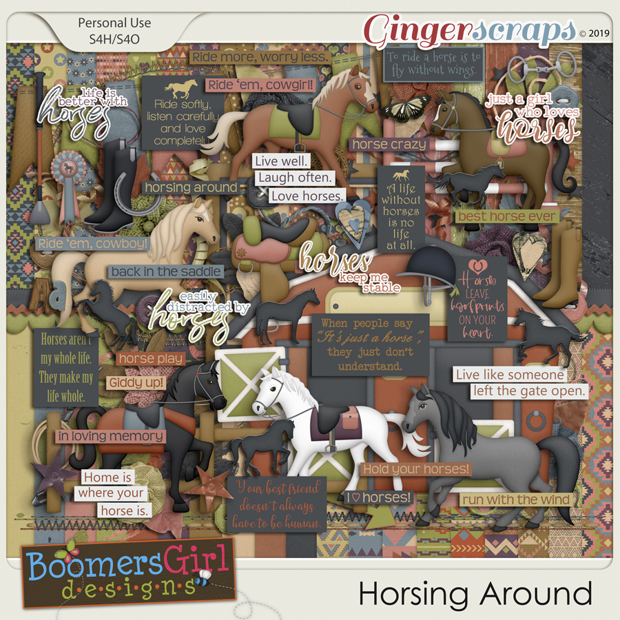 Horsing Around by BoomersGirl Designs