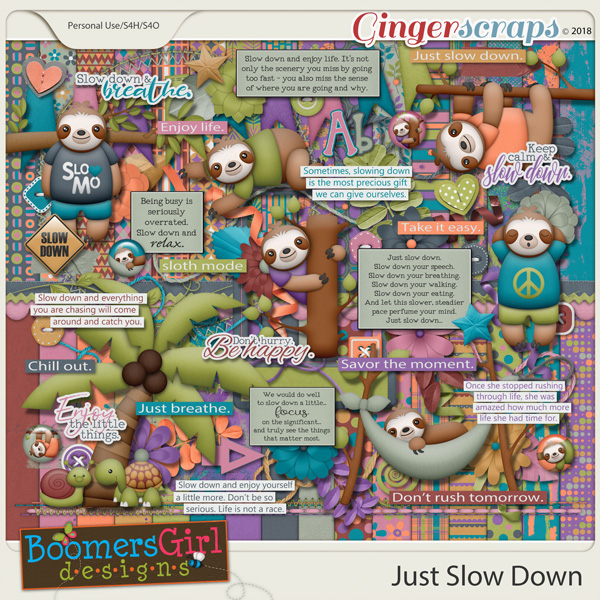 Just Slow Down by BoomersGirl Designs
