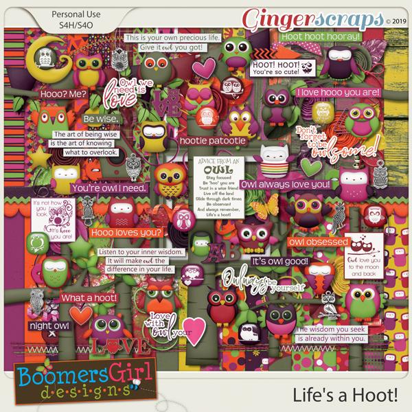 Life's a Hoot! by BoomersGirl Designs