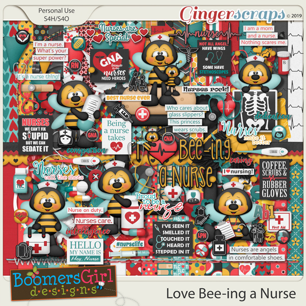 Love Bee-ing a Nurse by BoomersGirl Designs