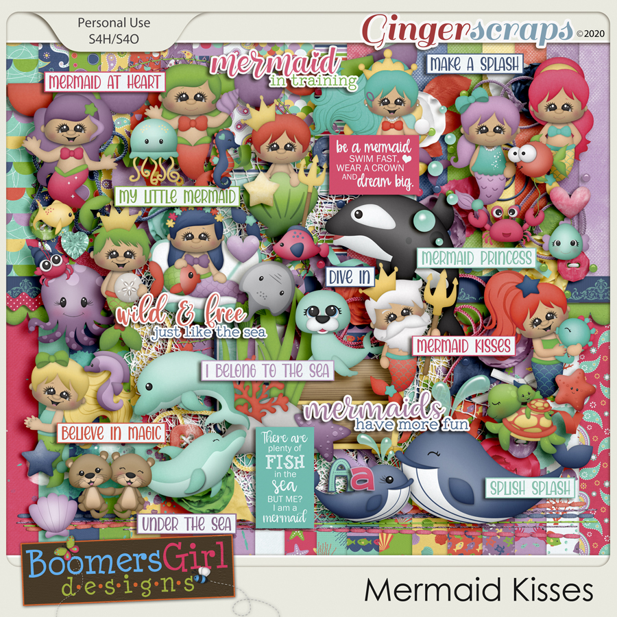 Mermaid Kisses by BoomersGirl Designs