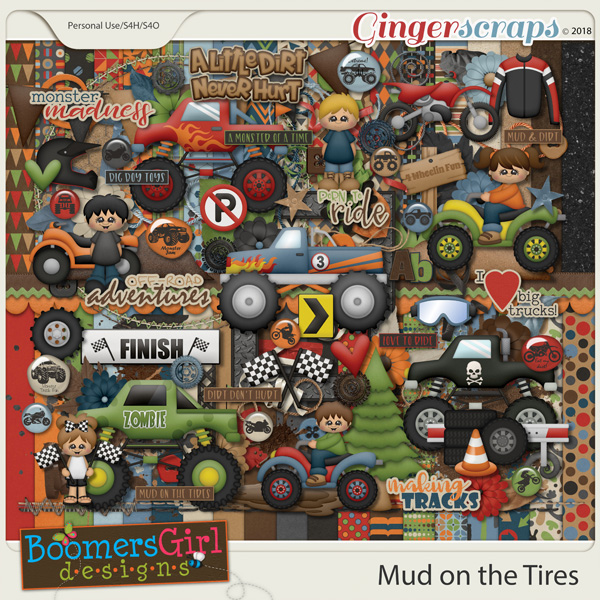 Mud on the Tires by BoomersGirl Designs