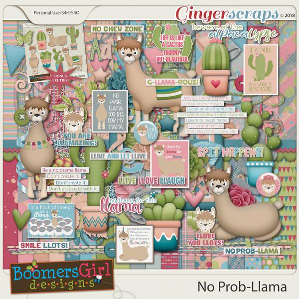 No Prob-Llama by BoomersGirl Designs