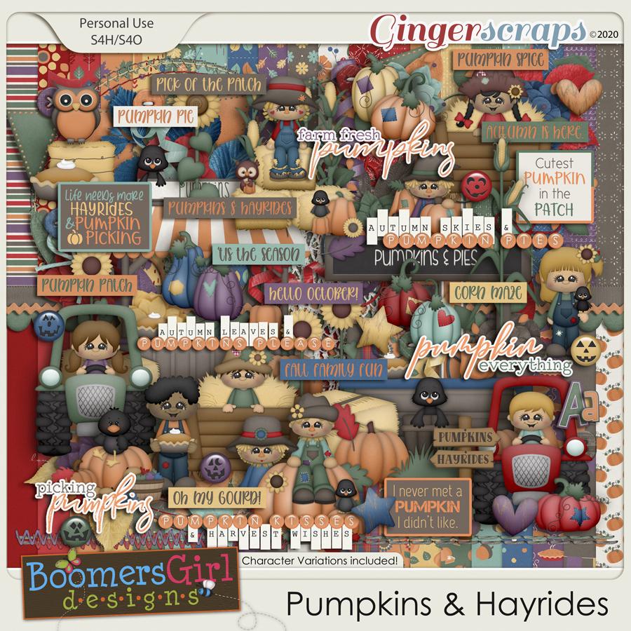 Pumpkins & Hayrides by BoomersGirl Designs
