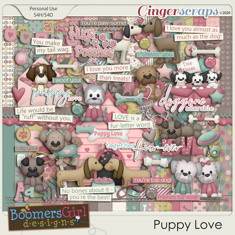 Puppy Love by BoomersGirl Designs
