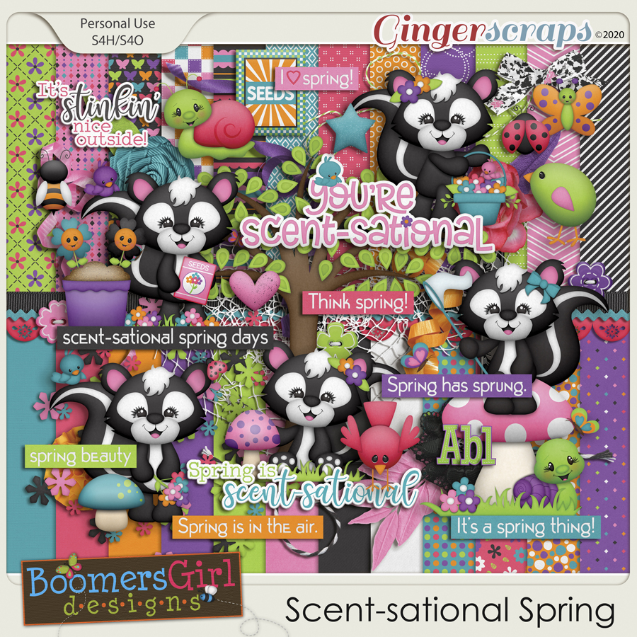 Scent-sational Spring by BoomersGirl Designs