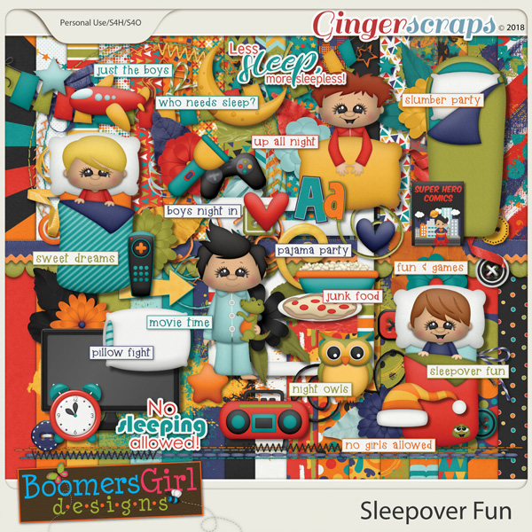 Sleepover Fun by BoomersGirl Designs