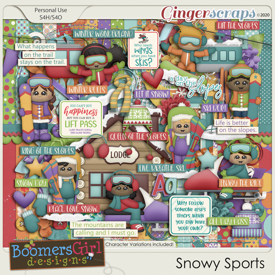 Snowy Sports by BoomersGirl Designs