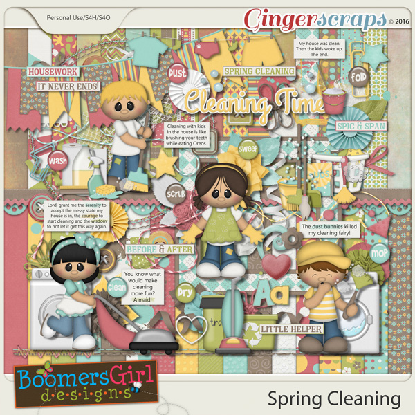 Spring Cleaning by BoomersGirl Designs