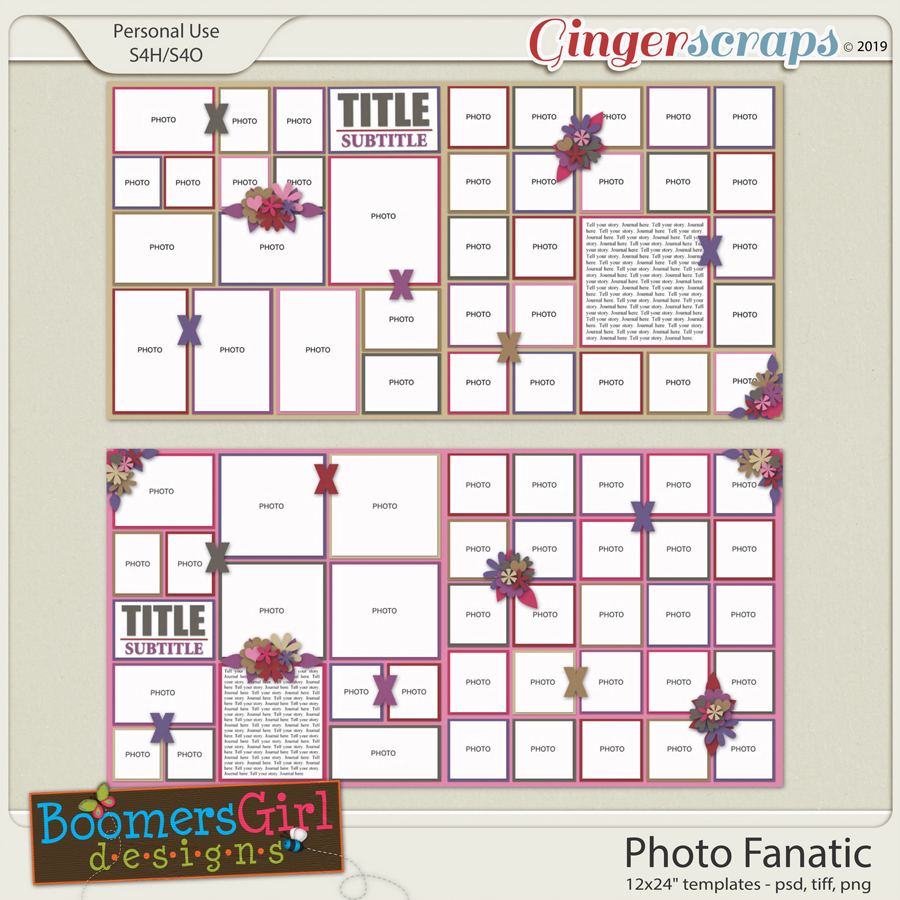 Photo Fanatic Template Pack by BoomersGirl Designs