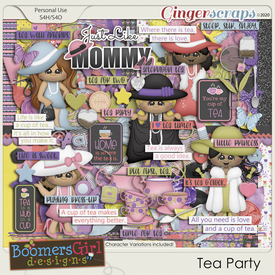 Tea Party by BoomersGirl Designs