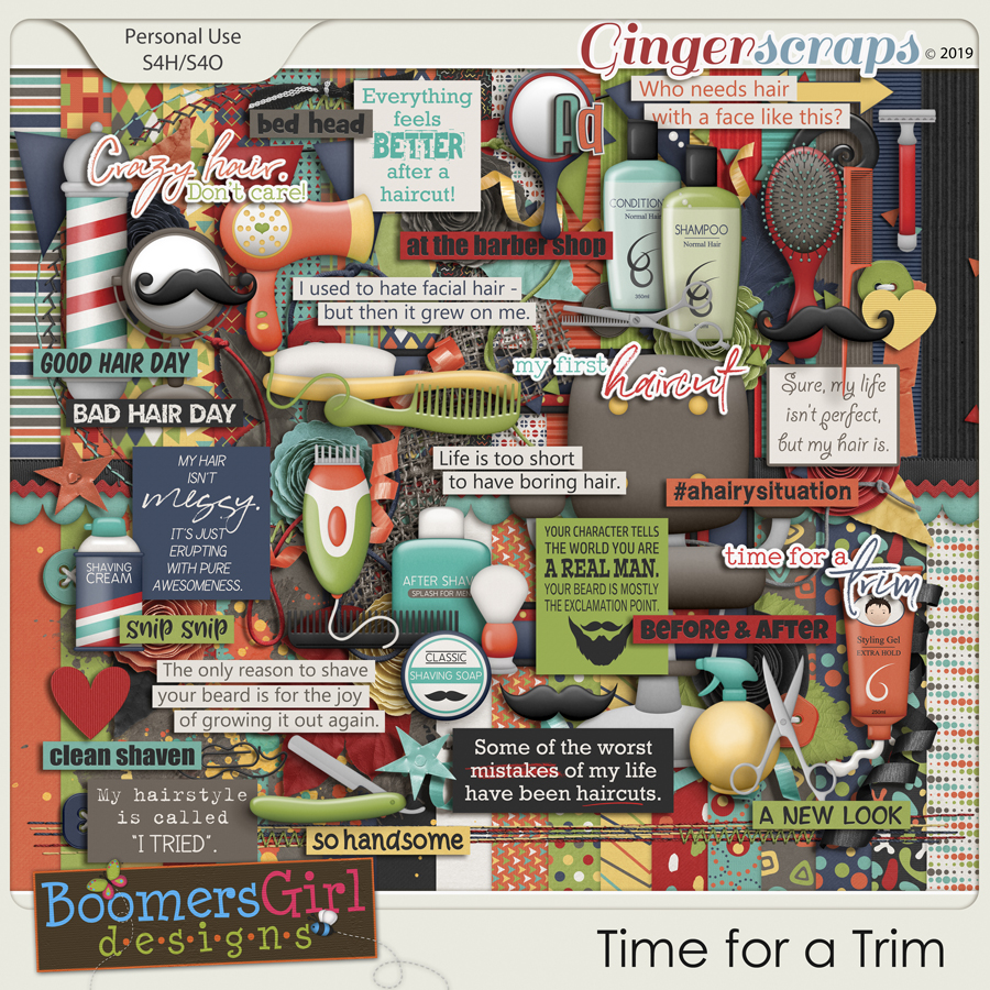 Time for a Trim by BoomersGirl Designs