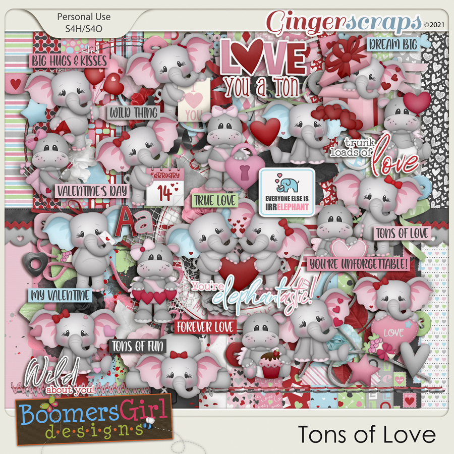 Tons of Love by BoomersGirl Designs