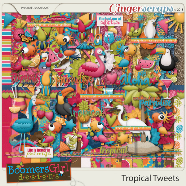 Tropical Tweets by BoomersGirl Designs