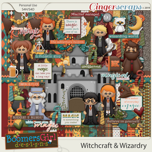 Witchcraft & Wizardry by BoomersGirl Designs