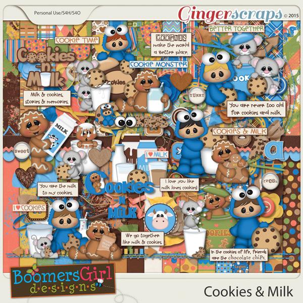 Cookies & Milk by BoomersGirl Designs