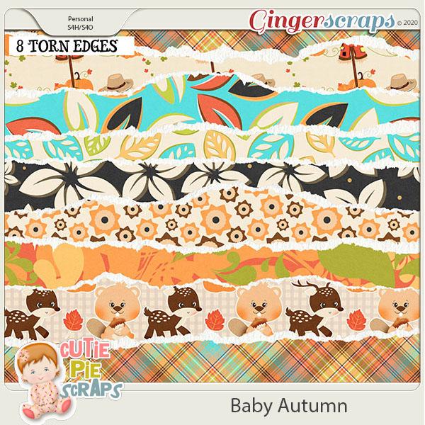 Baby Autumn-Torn EdgesBorder
