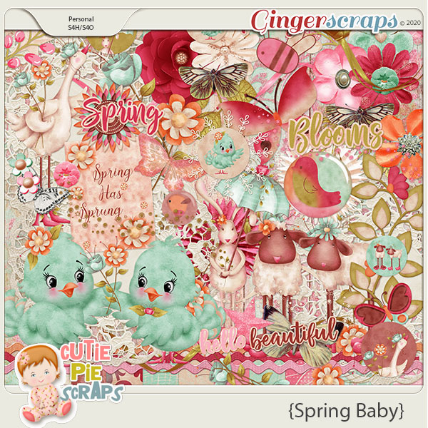 Spring Baby Page Kit