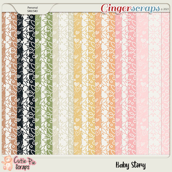 Baby Story Pattern Papers