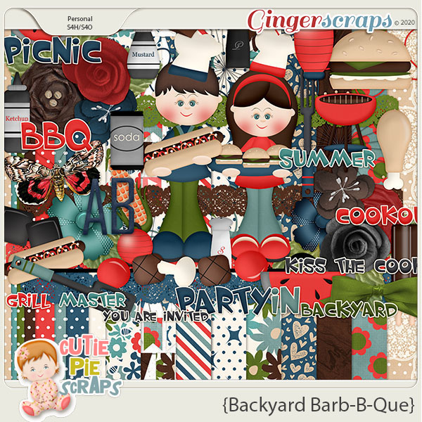 Backyard Barb-B-Que Digital Scrapbook Kit By Cutie Pie Scraps