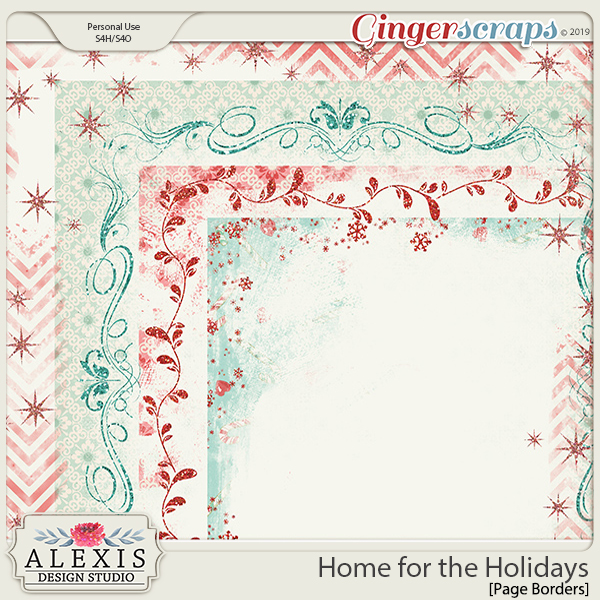 Home for the Holidays - Page Borders