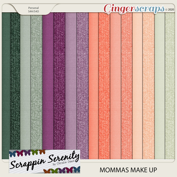 Mommas Makeup Cardstock and Shimmer Papers