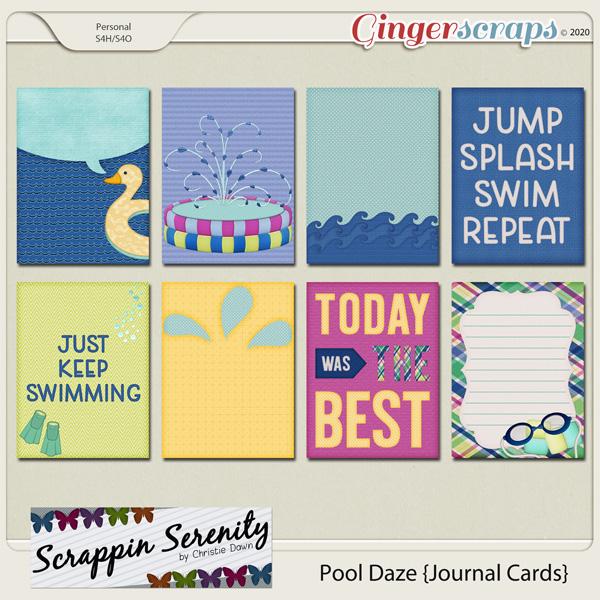 Pool Daze Journal Cards