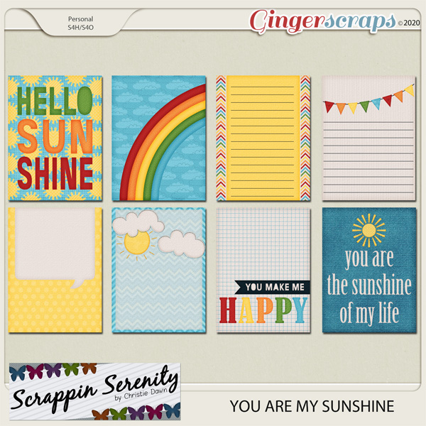 You Are My Sunshine Journal Cards