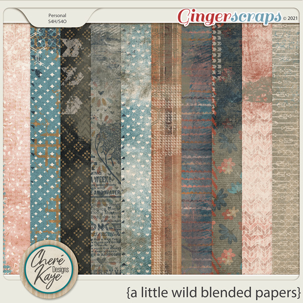A Little Wild Blended Papers by Chere Kaye Designs