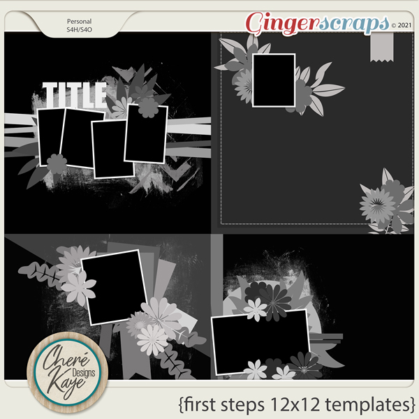 First Steps 12x12 Templates by Chere Kaye Designs