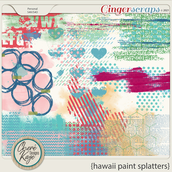 Hawaii Paint Splatters by Chere Kaye Designs