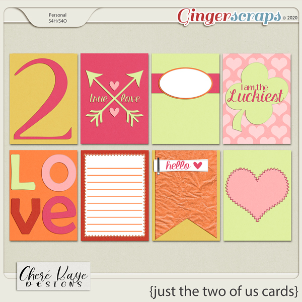 Just the Two of Us Cards by Chere Kaye Designs