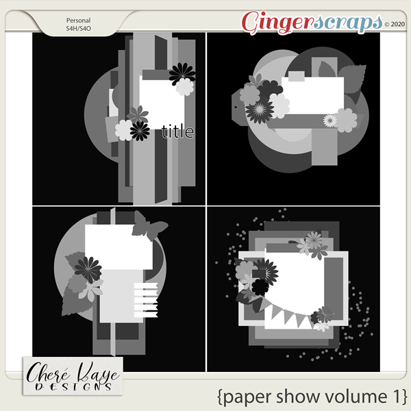 Paper Show Volume 1 12x12 Templates by Chere Kaye Designs